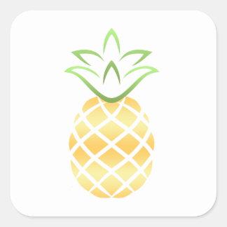 Pineapple Aloha Hawaii! Square Sticker