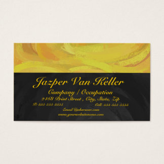 Pineapple and Black Monogram Business Card