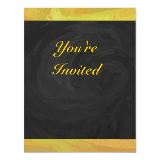 Pineapple and Black Party 4.25x5.5 Paper Invitation Card