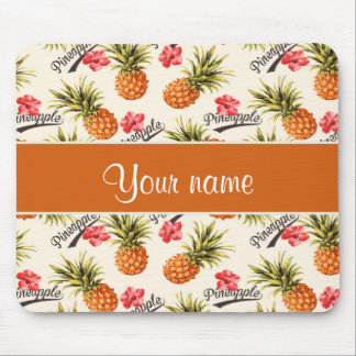 Pineapple and Hibiscus Mouse Pad