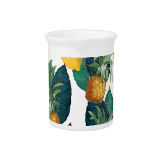 pineapple and lemon white beverage pitcher