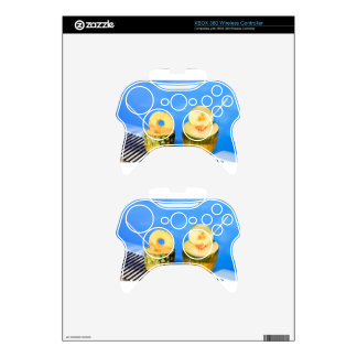 Pineapple and melon fruit with straws at pool xbox 360 controller skin