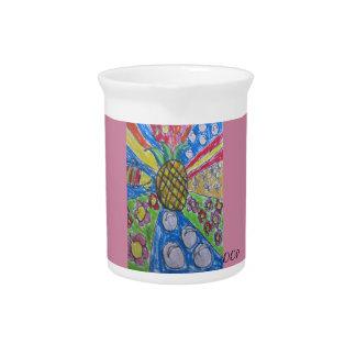 Pineapple art beverage pitcher