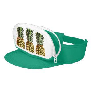 Pineapple art travel cap-sac sun visor with pouch