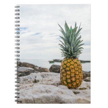 Beach Themed Pineapple at the Sea Shore Notebook