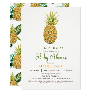 Toddler & Baby themed Pineapple Baby Shower Invitation
