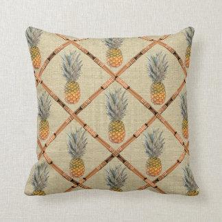 pineapple bamboo throw pillow