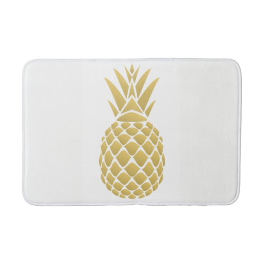 Pineapple Bath Mat Zazzle Com