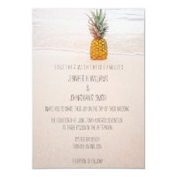 Pineapple Beach Wedding Invitations