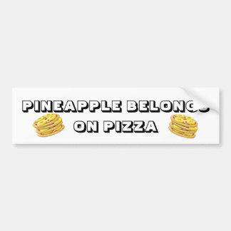 Pineapple belongs on Pizza Bumper Sticker