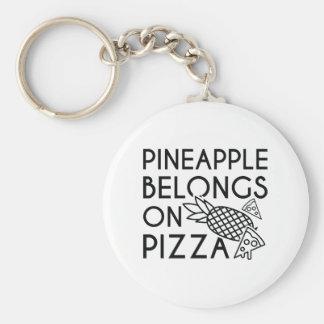 Pineapple Belongs On Pizza Keychain