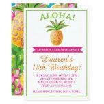 hawaiian, birthday, party, invitation, aloha,