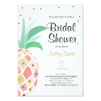 Pineapple Bridal shower invitation Tropical Baby