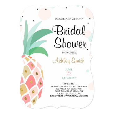 Toddler & Baby themed Pineapple Bridal shower invitation Tropical Baby