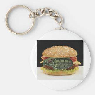 Pineapple Burger Keychain