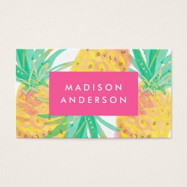 Beach Themed Pineapple Business Cards