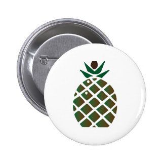 Pineapple 2 Inch Round Button