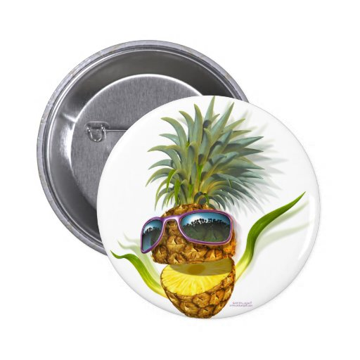 pineapple pinback buttons