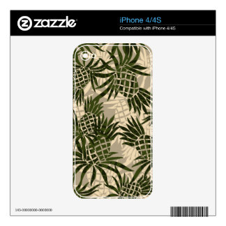 Pineapple Camo Hawaiian iPhone 4/4S Skin Skins For The iPhone 4S