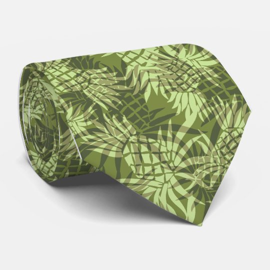 Pineapple Camo Hawaiian Necktie