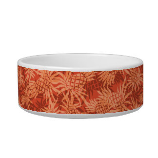 Pineapple Camo Hawaiian Pet Bowls