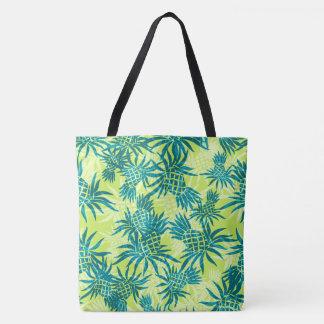 Pineapple Camo Hawaiian Tropical Beach Bag Tote Bag