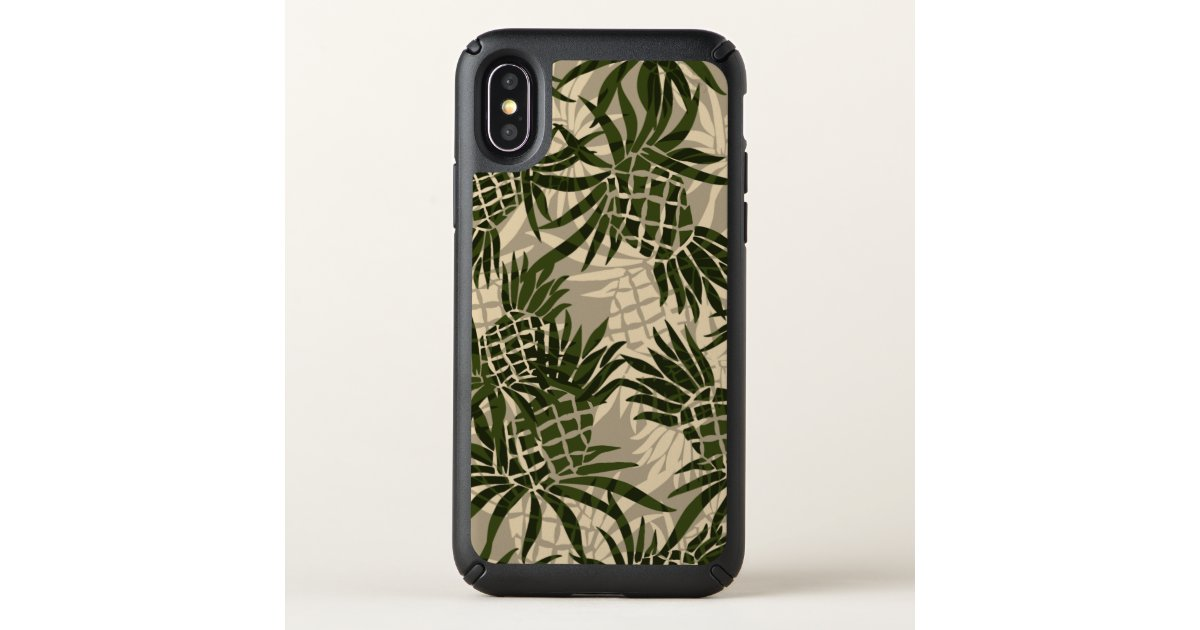f5a41ddd Pineapple Camo Hawaiian Tropical Khaki Speck iPhone Case | Zazzle.com