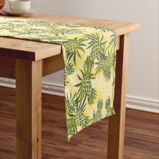 Delightful Pineapple Camo Hawaiian Tropical Short Table Runner