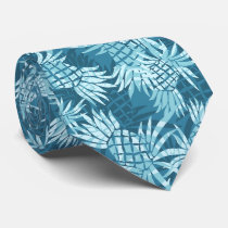 Pineapple Camo Hawaiian Two-sided Printed Neck Tie