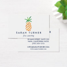 Pineapple Caterer Hospitality Business Card at Zazzle