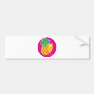 Pineapple Cocktail Car Bumper Sticker