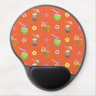 Pineapple Coconut Drinks [Red-Orange] Gel Mouse Pad