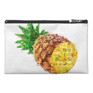 Pineapple collage - pineapple art - collage art travel accessory bag