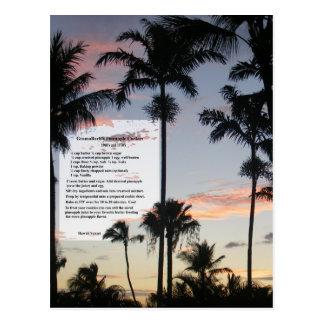 Pineapple Cookies Recipe Postcard