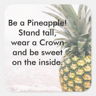 Pineapple Crown Square Sticker