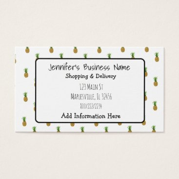 Professional Business Pineapple Cutesy Tropical Business Card