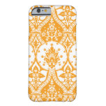 Pineapple Damask Orange Barely There iPhone 6 Case