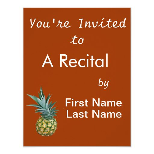 Pineapple Design, real photograph of homegrown Personalized Announcements