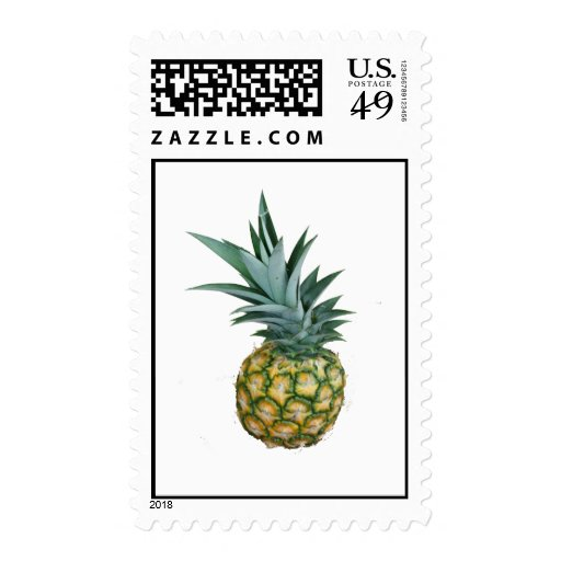 Pineapple Design, real photograph of homegrown Postage Stamps