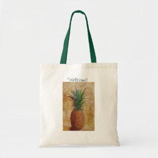 Pineapple Design Tote Bag