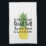 "Pineapple Dish Towel<br><div class=""desc"">Decorative pineapple dish towel. Be like a pineapple,  stand tall,  wear a crown,  be sweet on the inside.</div>"