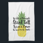 """Pineapple Dish Towel<br><div class=""""desc"""">Decorative pineapple dish towel. Be like a pineapple,  stand tall,  wear a crown,  be sweet on the inside.</div>"""
