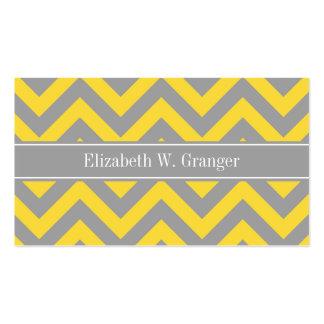 Pineapple Dk Gray LG Chevron Dk Gray Name Monogram Business Card