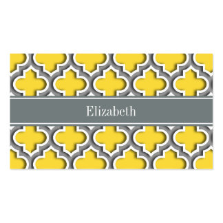 Pineapple Dk Gray Moroccan #5DS Char Name Monogram Business Card
