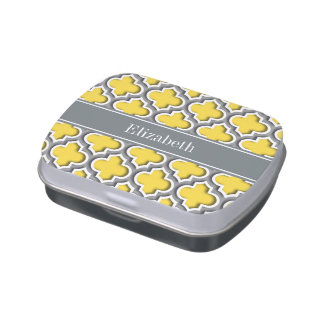 Pineapple Dk Gray Moroccan #5DS Char Name Monogram Jelly Belly Candy Tins