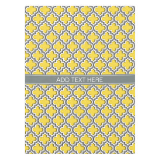 Pineapple Dk Gray Moroccan #5DS Char Name Monogram Tablecloth
