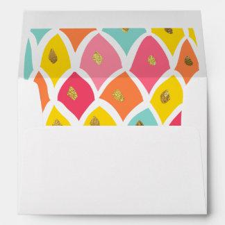 Pineapple Envelope Girl Birthday Pink Mint gold