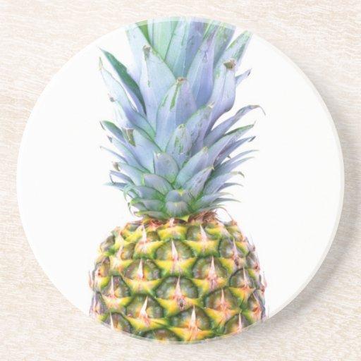 Pineapple Fruit Beach Dessert Colorful Tropical Coaster