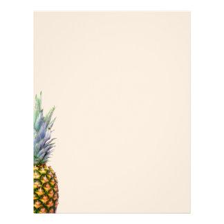Pineapple Fruit Beach Dessert Colorful Tropical Customized Letterhead