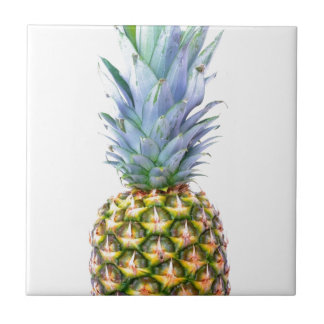 Pineapple Fruit Beach Dessert Colorful Tropical Small Square Tile